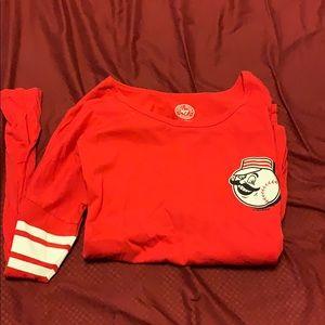 Fitted long sleeve Cincinnati reds shirt